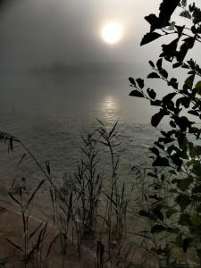 Východ slunce na lomem