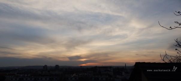 Západ slunce nad Kotlaskou