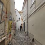 Graffiti ve Stříbné ulici...